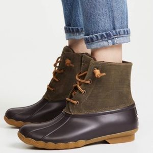 NIB Sperry Olive Green Sperry Saltwater Duck Boot